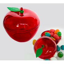 50 Mini Maça Vermelha Acrílica Branca De Neve Menor Preço