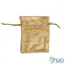 50 Saquinhos De Organza 8 X 6 - | Cor: Dourado