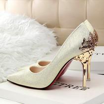 Sapato Camurça Salto Metal Stiletto (entrega 20-60dias)