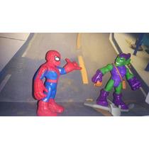 Mini Bonecos Super Hero Squad - Homem Aranha X Duende Verde
