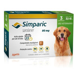 Antipulga Simparic 80 Mg 20 A 40 Kg 3 Comprimidos - Ago/20
