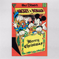 Poster 30x45cm Desenho Disney Mickey Retro