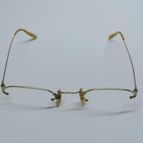 4c8e18e36 Armação Oculos Antiguid Pequena'''ouro 12k Shurset Rimway'''
