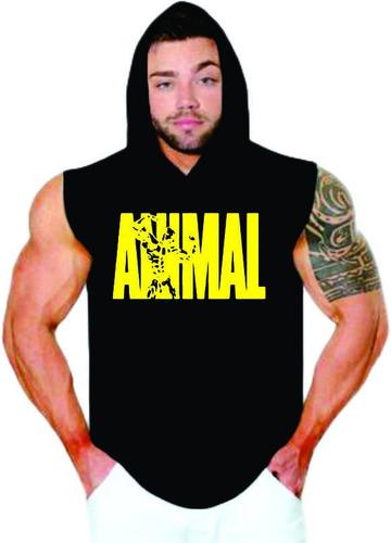 5952e58c86996 Kit De 5 Regata Machão Camisa Capuz Treino Academia Animal