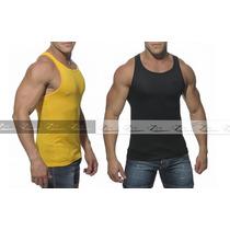 Camiseta Masculina Tank Cavada Regata Gola V Camisas Blusas