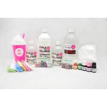 Kit Faça Seu Slime Cola Branca E Transparente+ Borax + Copo!