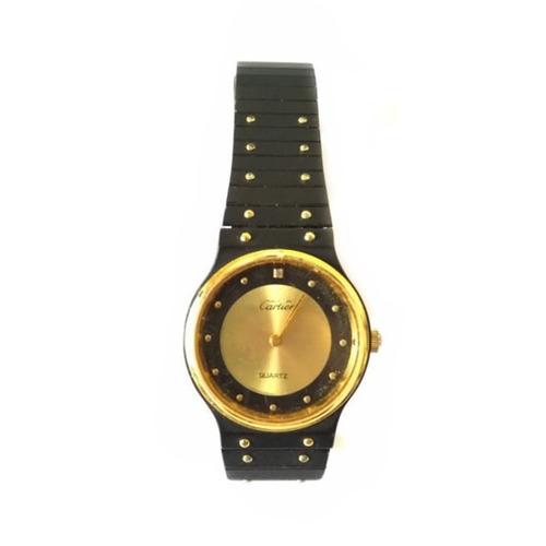 27126633893 Relógio Cartier Usado Preto dourado