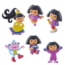Kit Com 6 Bonecos Dora A Aventureira Dora E Botas Nicklodeon