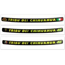 Adesivo Resinado Valentino Rossi Tribu Dei Chihuahua Viseira