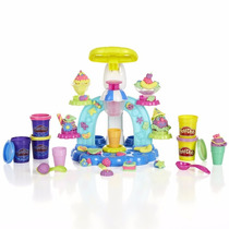 Brinquedo Massinha Playdoh Molde Sorveteria Divertida Hasbro