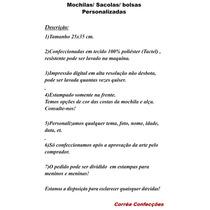 b170f2bb3 20 Mochilas / Bolsas /sacolas Personalizadas Turma Da Monica à venda ...