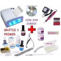 Kit Unha Gel Acrigel Dvd + Cabine + Lixa + Kit Gel Acrygel