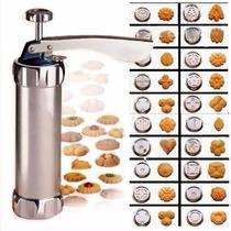 Máquina P/ Biscoito Biscoiteira/ Decoração Bolo Cookie Press