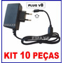 Carregador Fonte V8 Celular Tablet Cce 5v 2,2a Kit 10 Peças