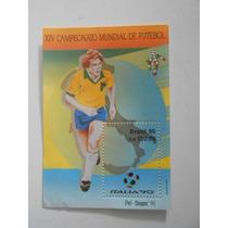 Brasil Bloco 86 - Copa Do Mundo De Futebol Itália 1990