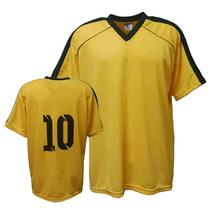 6490d3100f Camisa Camiseta Colete Futebol Futsal Volei- Amarelo preto à venda ...