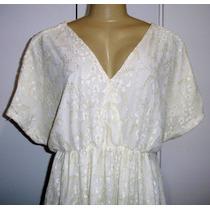 Vestido Bata Feminino.de Renda Tam. G C/ Strech S6