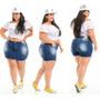 Shorts Saia Plus Size Jeans Premium Com Elastano Plus Original