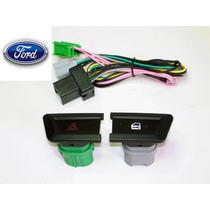 Botões Pisca Alerta + Trava Elétrica P/ Ford Ranger 2013 Up