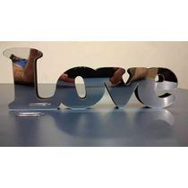 Palavra Love - Acrilico + Mdf (8mm X 16cm X 23cm)