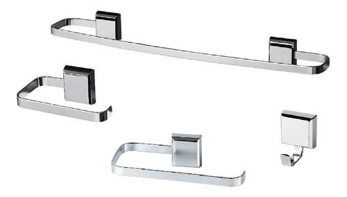Kit De Acessórios Para Banheiro 4 Peças Luxo