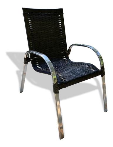 Cadeira, Area Externa Varanda, Fibra Sintética, Alumínio