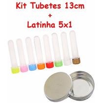 Kit Lembrancinha C/ 50 Tubete Acrílico + 25 Latinha De Metal