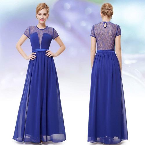 13e8c7aa04 Vestido Azul Royal G Madrinha Casamento Mãe Noiva Noivo. R  239
