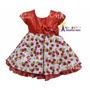 Vestido De Festa Infantil - Moranguinho - Com Tiara