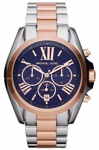 Relógio Michael Kors Mk5606 Prata, Azul E Rose Caixa manual. 98ba9867d9