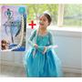 Fantasia Vestido Infantil - Elsa Frozen Completa No Estoque!