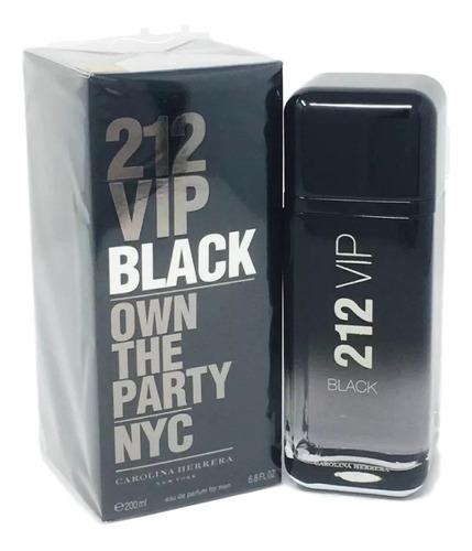 Perfume 212 Vip Black  Eau De Parfum 200 Ml + Amostra