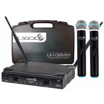 Microfone Sem Fio Duplo Lyco Uh02mm Profissional