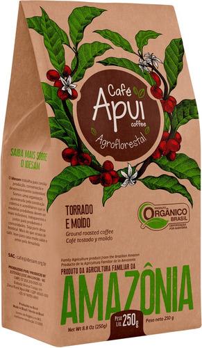 Café Orgânico Apuí - Em Pó. Pacote 250g