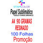 Papel Sublimatico A4 90g Fundo Branco, Pacote 100 Folhas C10