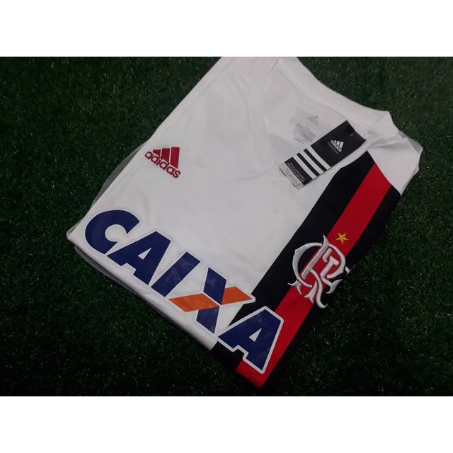 b96c189fe7a Camisa Masculina adidas Away Il Flamengo Branca 2017 E 2018 em ...