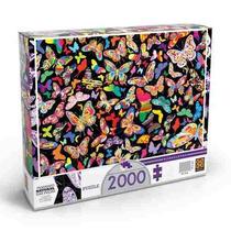 Quebra-cabeça Puzzle Borboletas 2000 Peças - Grow