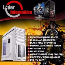 Cpu Gamer Intel I7 6700, 32gb Ddr4, Ssd 500gb, Gtx 980 6gb