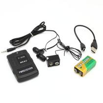 Micro Escuta Fm Receptor E Transmissor Até 500 Metros