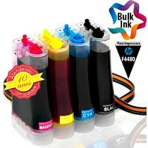 Bulk Ink Hp Para Multifuncional F4480 + 120ml De Tinta Alemã