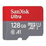 Cartão De Memória Sandisk Sdsquar-128g-gn6ma Ultra Com Adaptador Sd 128gb