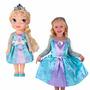 Boneca Princesas Elsa Frozen + Vestido Para Criança Infantil