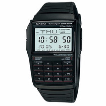 Relógio Casio Masculino Data Bank Calculator Nota E Garantia