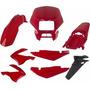 Kit De Carenagem Bros Nxr 125 /150 Vermelho 2003/2008 (8pc)