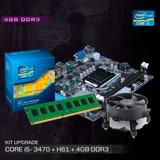 Kit Processador I5 3470 + Placa H61 + 4gb Frete Gratis