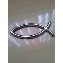 Emblema Evangelico Peixe Cromado 6 Cm