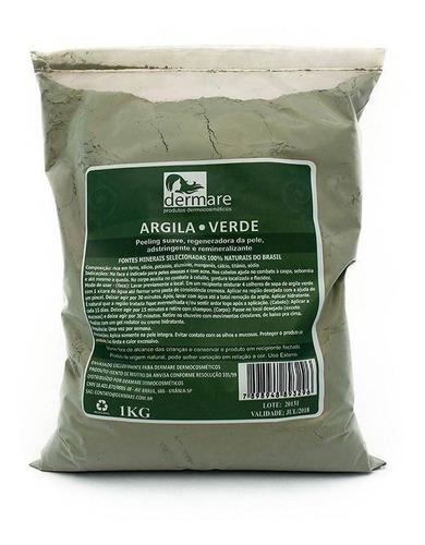 Argila Verde 1kg - Dermare (pele Oleosa)