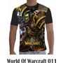 Camisa Camiseta Games World Of Warcraft Modelo 11 A 15