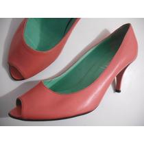 Sapato Peep Toe Office Rosa Tam 38 Bom Estado