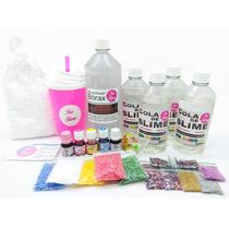 Kit Para Fazer Slime Cola Transparente - Kit Grande Oferta